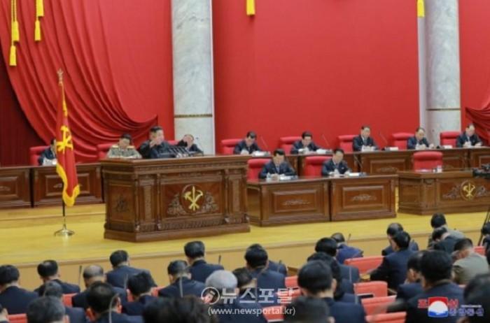 북한 노동당 제7기 제5차 전원회의가 지난 28일 평양에서 열린 모습.jpg