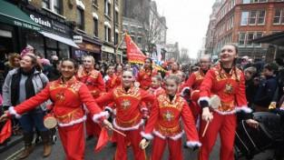 【포토】우한폐렴 공포에도 뉴욕, 런던서 춘제 행진