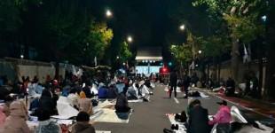 경찰,'조국규탄 철야농성장' 흉기 소동 60대 체포