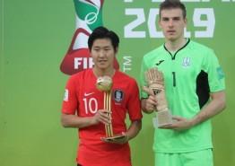 【포토】이강인 선수, FIFA U-20 월드컵 대회'골든볼'수상