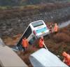 서천,시내버스 빗길에 미끄러져 다리 밑 추락--- 1명 숨져